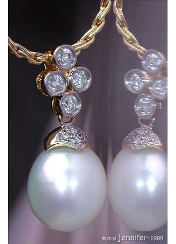 Timeless Southsea Pearl Pendant with Diamonds