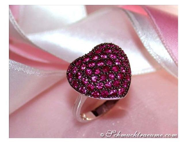 Enchanting Ruby Heart Ring