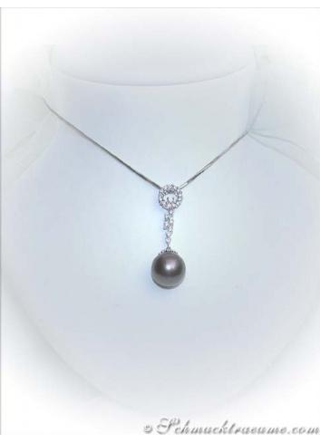 Enchanting Tahitian Pearl Diamond Pendant
