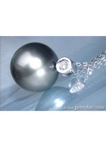 Beautiful Tahitian Pearl Diamond Necklace
