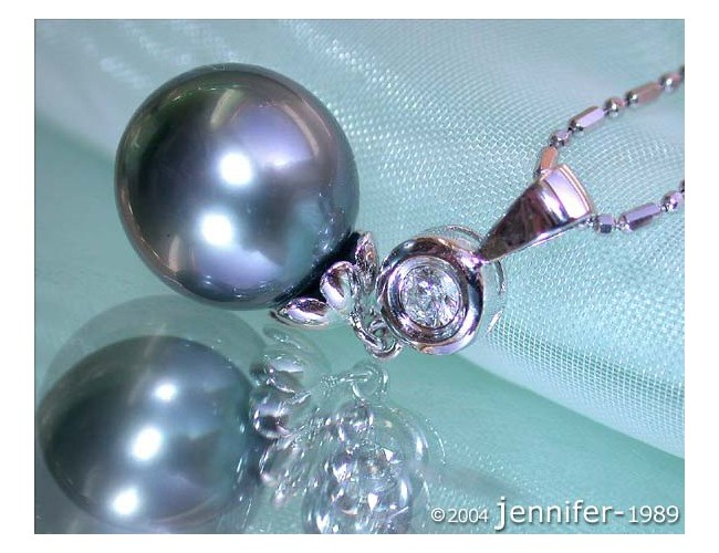 Timelessly Classic Tahitian Pearl Diamond Pendant