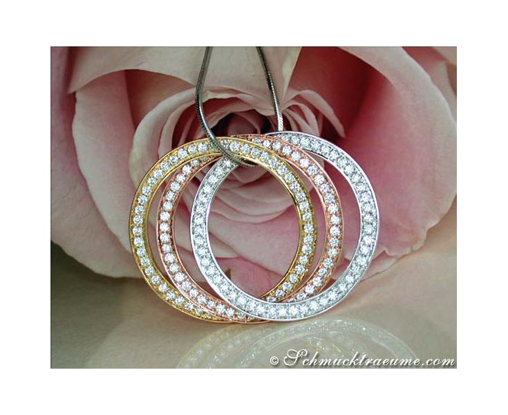 Amazing Entwined Diamond Circle Pendant