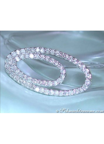 Attractive Diamond Ellipse Pendant