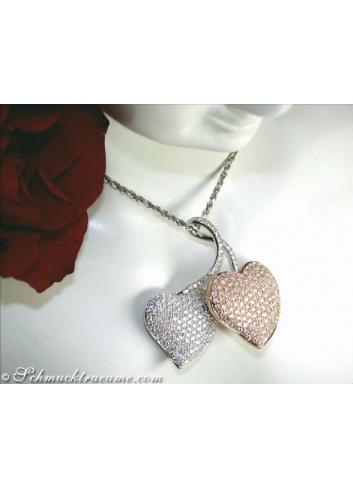 Diamant Herz Anhänger