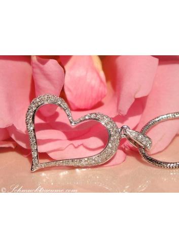 Delicate Diamond Heart Pendant