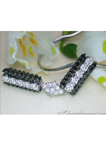 Brillanten & schwarze Diamanten Anhänger