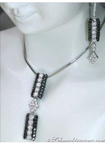 Exquisite Black & White Diamond Pendant