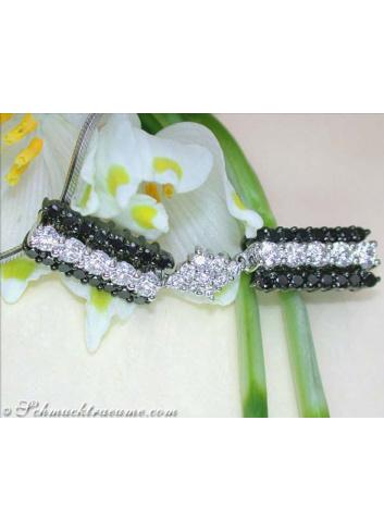 Exquisite Black & White Diamond Pendant
