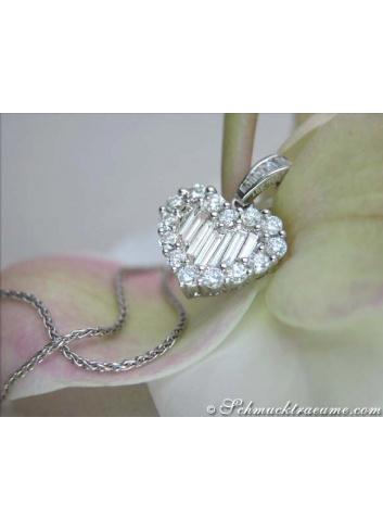 Brillanten / Diamanten Herz Anhänger