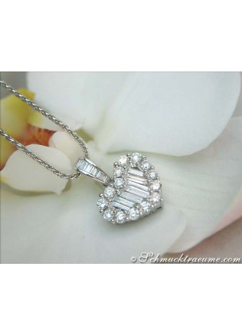 Captivating Diamond Heart Pendant