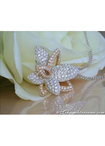 Beautiful Diamond Butterfly Pendant