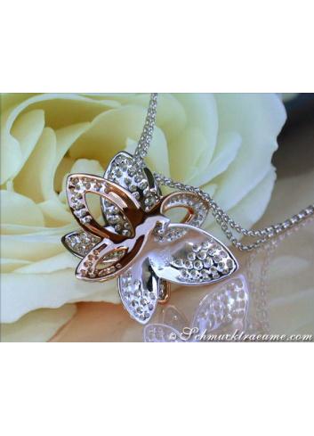 Beautiful Diamond Butterfly Pendant