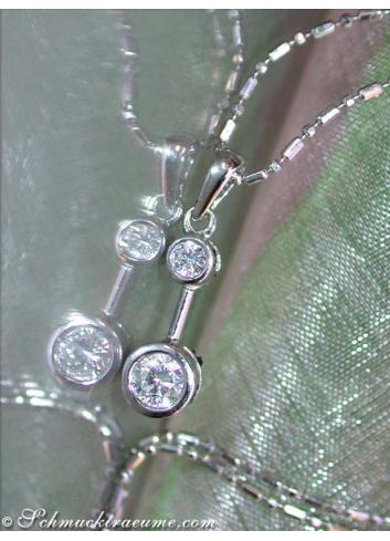 Diamant Solitär Anhänger in Weißgold 750