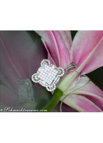 Exzellenter Anhänger mit Diamanten in 5 Schliffarten