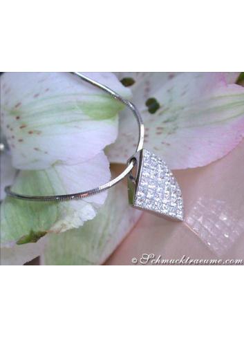 Princess Diamant Anhänger in Weißgold 750