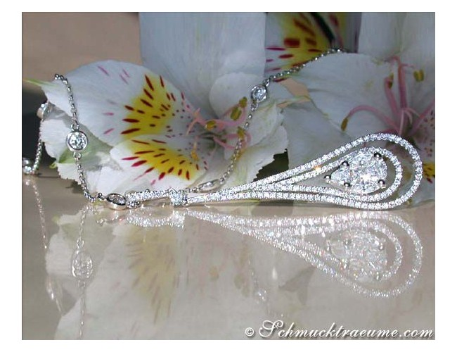 Luxus Diamanten Anhänger Collier