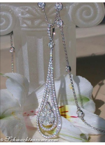 "Glorious ""Illusion Style"" Diamond Pendant"