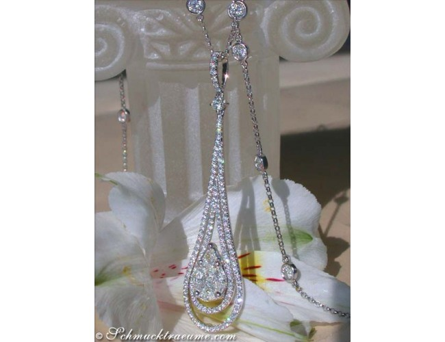 "Glorious ""Illusion Style"" Diamond Pendant"