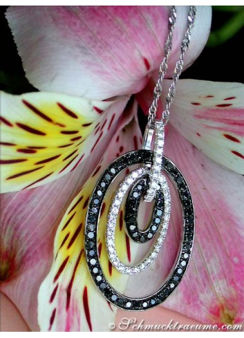 Pretty Black & White Diamond Pendant