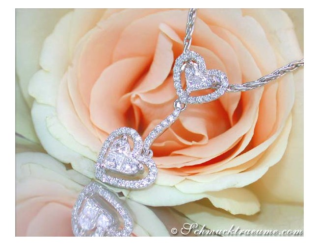 Feminine Princess Diamond Heart Pendant