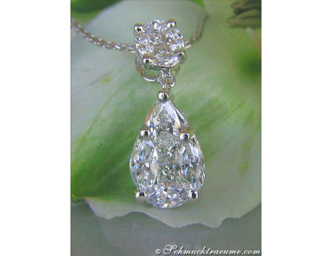 "Picture Perfect ""Illusion Style"" Diamond Pear Pendant"