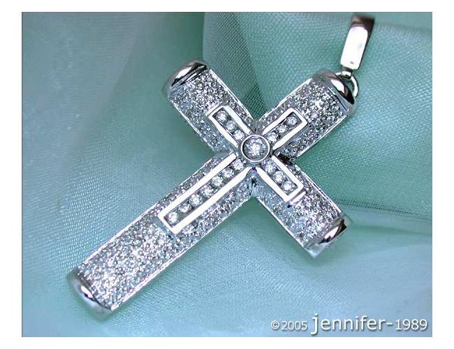 Attractive Diamond Cross Pendant