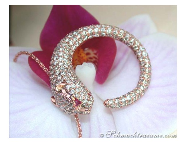 Extravagant Diamond Panther Pendant on Chain