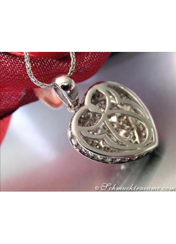Herz Anhänger mit braunen Diamanten