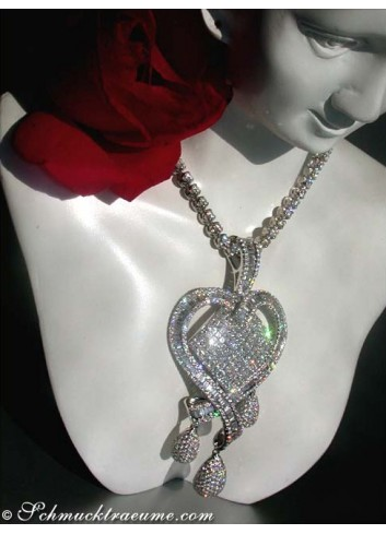 High-end Diamond Heart Pendant (9,79 ct.)