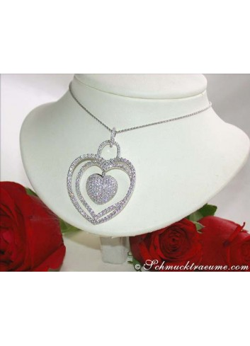 Excellent Diamond Heart Pendant