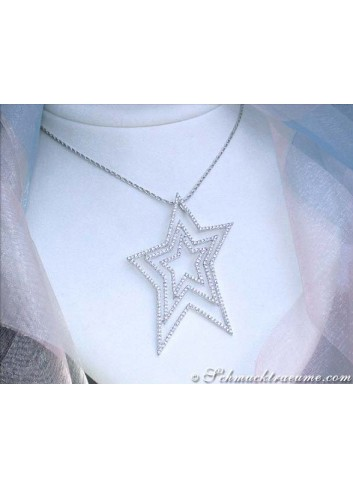 Unique Diamond Star Pendant
