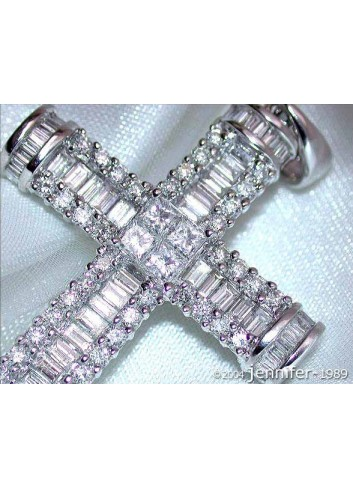Impressive Diamond Cross Pendant