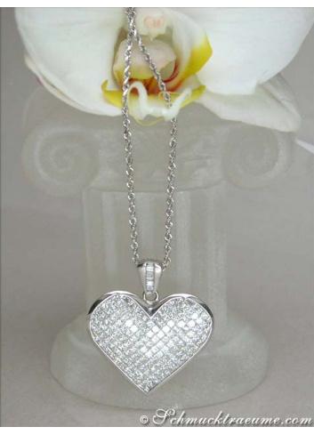 Glorious Princess Diamond Heart Pendant