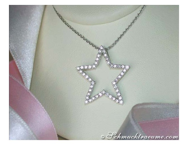 Pretty Diamond Star Pendant
