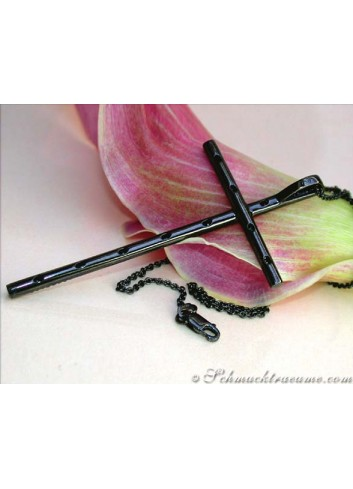 Exceptional Black Diamond Cross Pendant