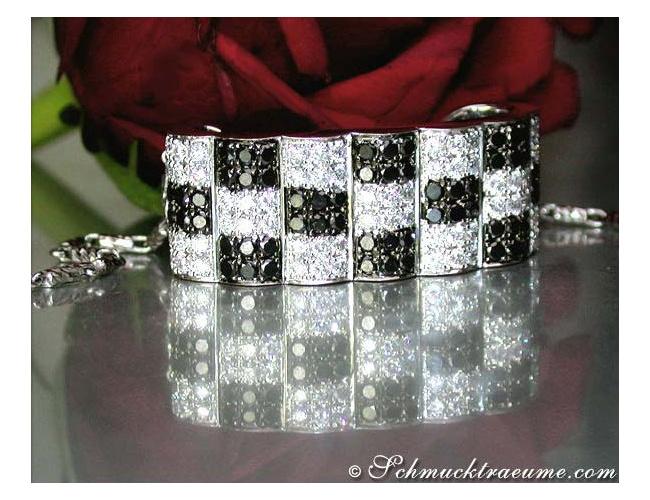 Puristic Black & White Diamond Pendant (Chessboard Style)