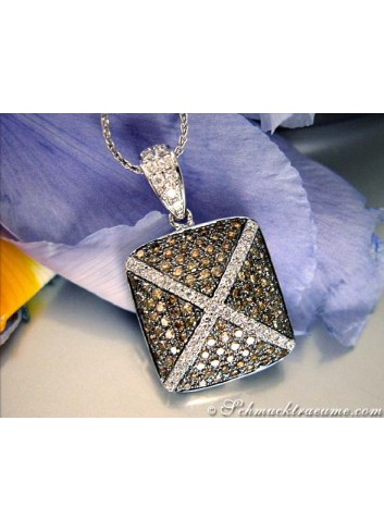 Anhänger mit braunen Diamanten