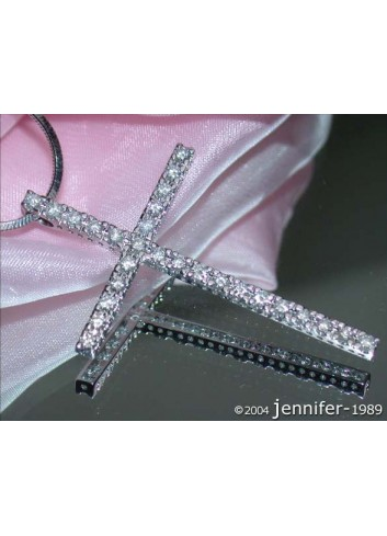 Simple Diamond Cross Pendant