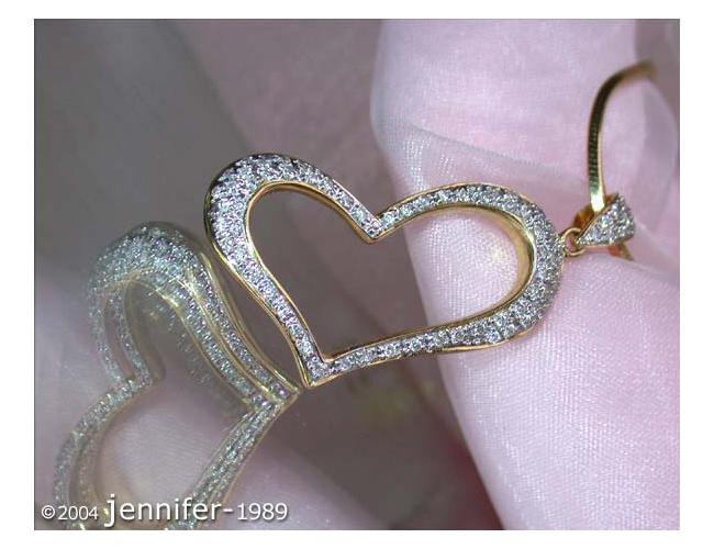 Herz Anhänger mit Diamanten in Gelbgold750