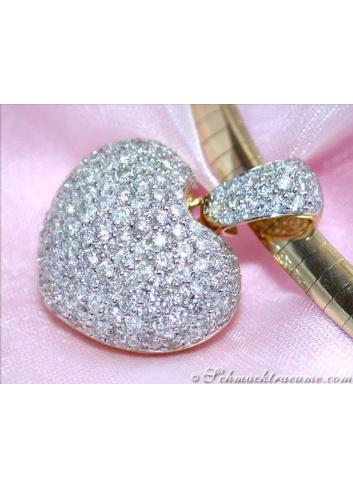 Diamant Herz Anhänger Gelbgold 750