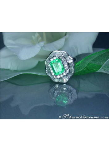 Smaragd Brillanten Diamanten Ring