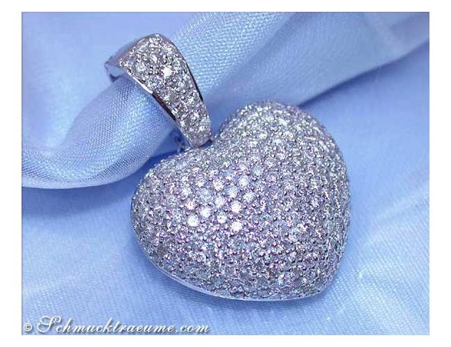Precious Diamond Pave Heart Pendant