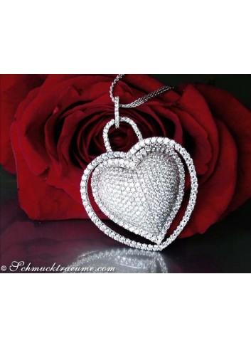 Magnificent Diamond Heart Pendant (7.50 ct.)