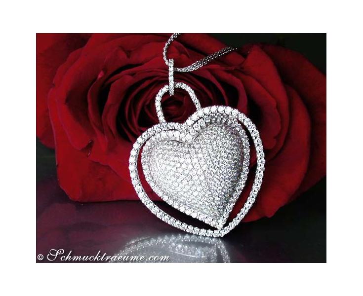 Magnificent Diamond Heart Pendant (7.50 ct.)