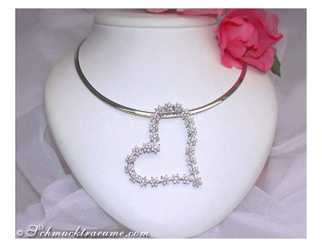 Glorious Diamond Heart Pendant