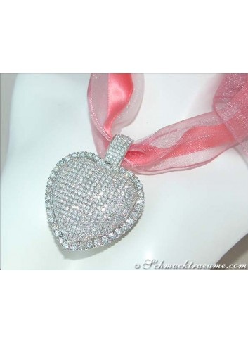 Extra large Diamond Pendant (9,50 ct.)