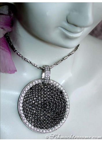 Unconventional Black & White Diamond Pendant