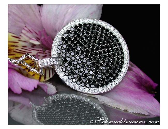 Unconventional Black & White Diamond Pendant