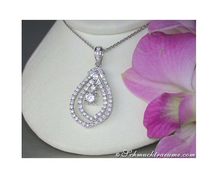 Classy Elegant Diamond Pendant