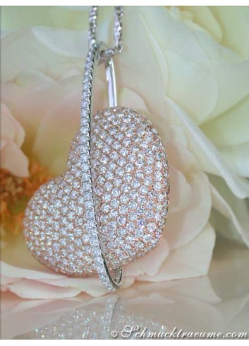 Exceptional Diamond Heart Pendant